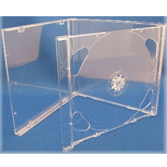 DOUBLE CD Standard jewel case - transparent tray