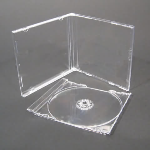 CD Standard jewel case - transparent tray