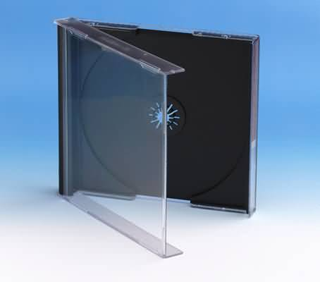 CD Standard jewel case - black tray