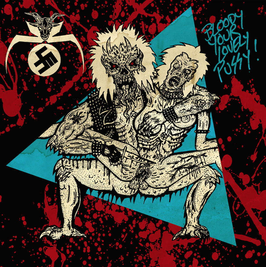 ABIGAIL/ SHITFUCKER - Bloody Your Lovely Pussy Split Pink/Blue 7