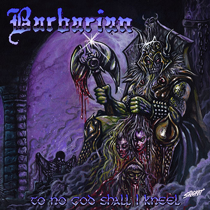 BARBARIAN - To No God Shall I Kneel Gatefold Purple/Blue 12