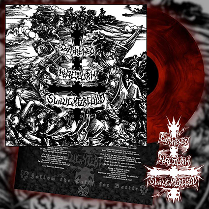 DARKENED NOCTURN SLAUGHTERCULT - Follow The Call For Battle Gatefold Red Galaxy 12