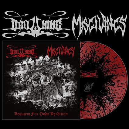 DROWNING/ MISGIVINGS - Reqviem For Gods Perdition Splatter 10