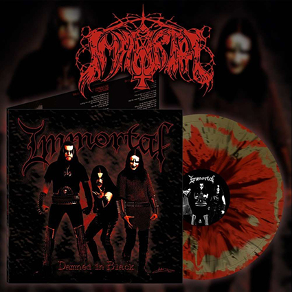IMMORTAL - Damned in Black Red Marble 12