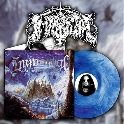 IMMORTAL - At The Heart Of Winter Gatefold Blue Galaxy 12