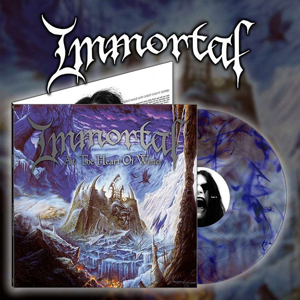 IMMORTAL - At The Heart Of Winter Gatefold Blue Marble 12