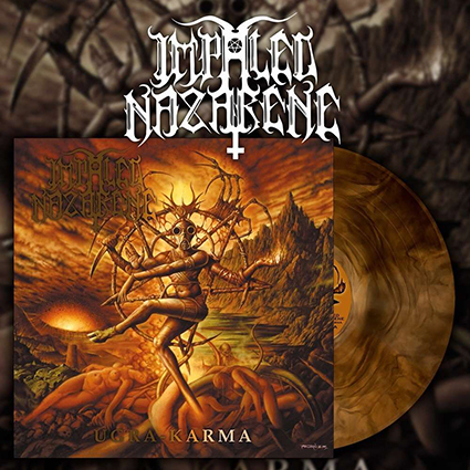 IMPALED NAZARENE - Ugra Karma Gatefold Orange Galaxy 12
