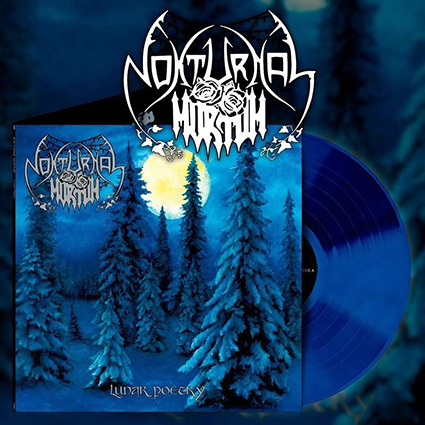 NOKTURNAL MORTUM - Lunar Poetry Gatefold Blue 12