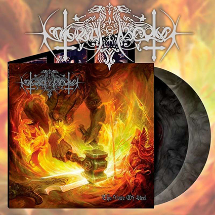 NOKTURNAL MORTUM - The Voice Of Steel Gatefold Black Galaxy 2x12