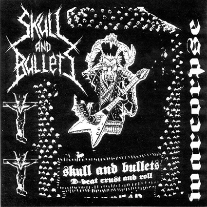 SKULL AND BULLETS/ BESTHÖVEN - Alone In Darkness / Warcorpse split 7