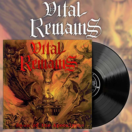VITAL REMAINS - Dawn Of The Apocalypse Black 12