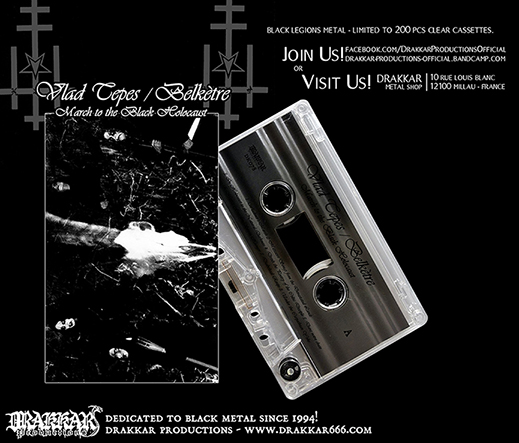 VLAD TEPES/ BELKETRE - March to the Black Holocaust Cassette