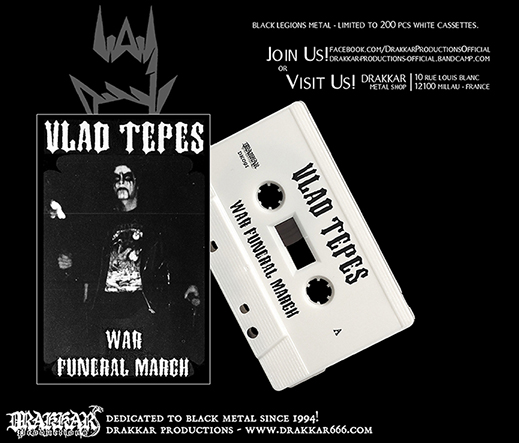 VLAD TEPES - War Funeral March Cassette
