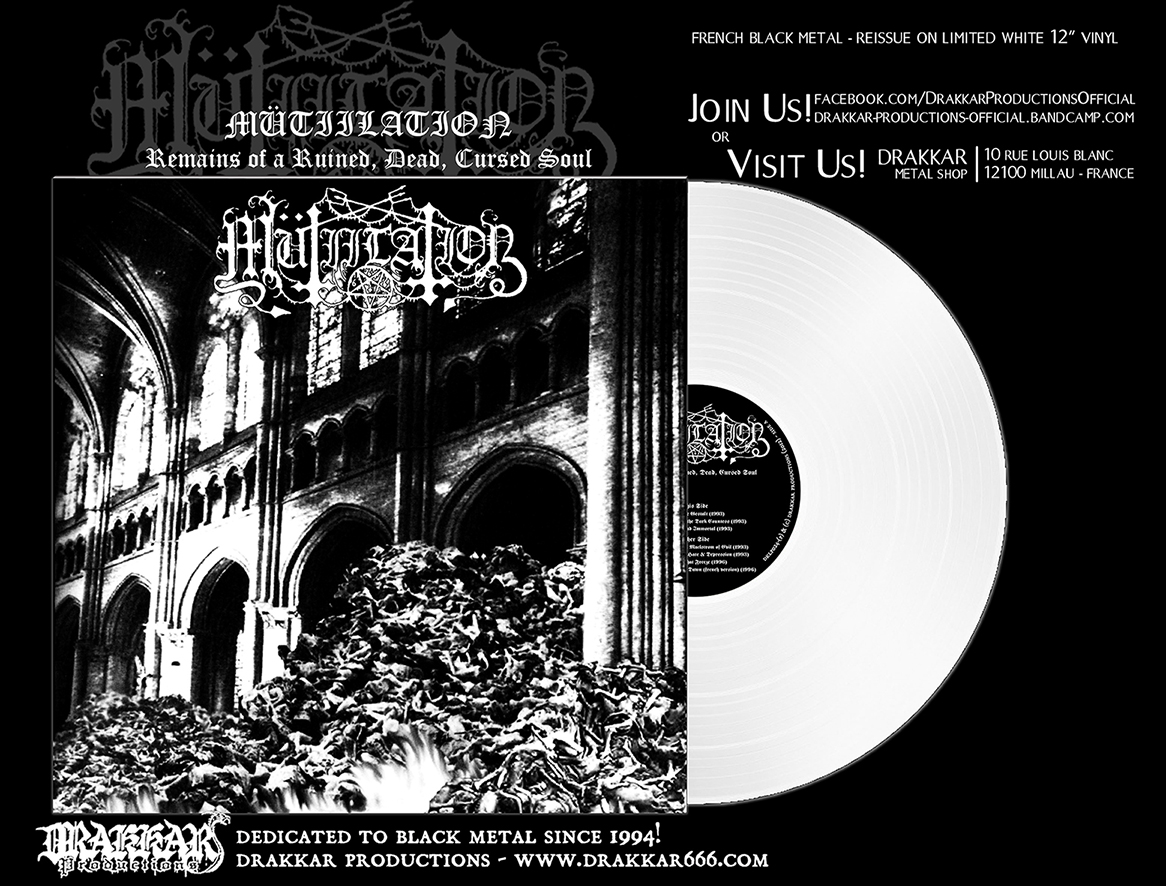 MÜTIILATION - Remains of a Ruined, Dead, Cursed Soul White 12