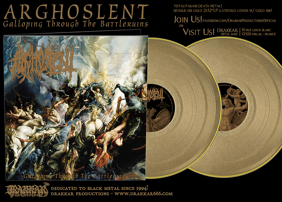 ARGHOSLENT - Galloping Through The Battleruins Gatefold GOLD 2x12