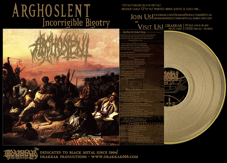 ARGHOSLENT - Incorrigible Bigotry GOLD 12