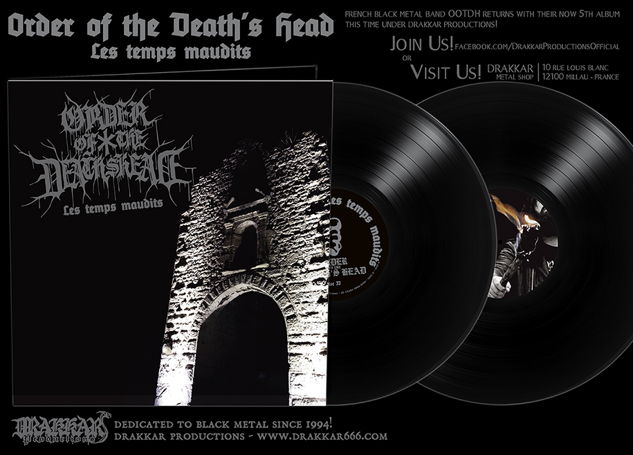 ORDER OF THE DEATH'S HEAD - Les Temps Maudits Gatefold 2x12