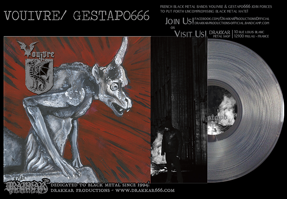 VOUIVRE/ GESTAPO 666 split Ultra Clear 12