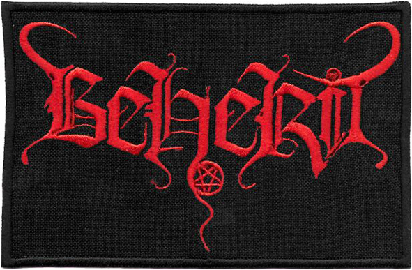 BEHERIT - Red Logo Patch
