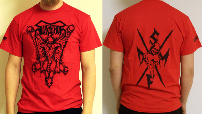 SLUGATHOR - Echoes From Beneath Red TS